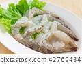 Fresh shrimp Components for making shabu or Suki. 42769434