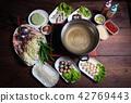 Shabu Shabu, a popular dish of pork, beef, shrimp, 42769443