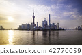 Shanghai city skyline Pudong side. 42770059