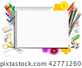 Concept Back to School with Notepad 42771260