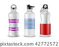 Vector set of plastic sport bottles for drinks 42772572