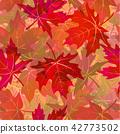 Seamless Pattern, Maple Leaves 42773502