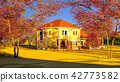 American house in rural settings 3d rendering 42773582