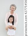 할머니, 손녀, 가족 42775456