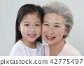 할머니, 손녀, 가족 42775497