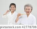 할머니, 여자아이, 어린이 42778706