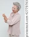 여자, 통증, 노인 42779763
