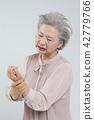 여자, 통증, 노인 42779766