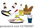 荷包蛋 蛋 雞蛋準備的實物 42780087