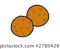 Soy sauce cracker 42780426
