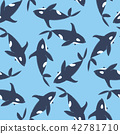 Whales seamless pattern 42781710