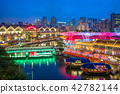 aerial view of Clarke Quay in singapore at night 42782144