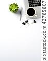 Office desktop with copy space 42785807