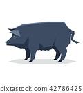 Flat geometric Guinea Hog 42786425