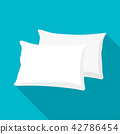 White pillow, cushion vector illustration 42786454