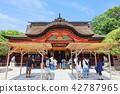ศาลเจ้า Dazaifu Tenmangu (ศาลากลาง) เมือง Dazaifu จังหวัดฟุกุโอกะ 42787965