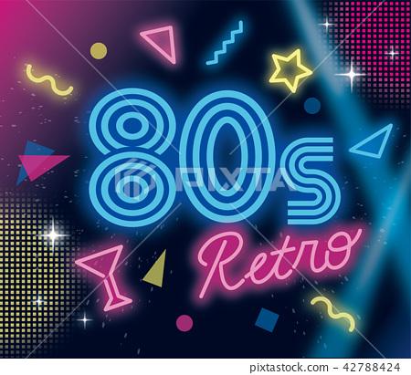 80年代的霓虹燈設計 42788424