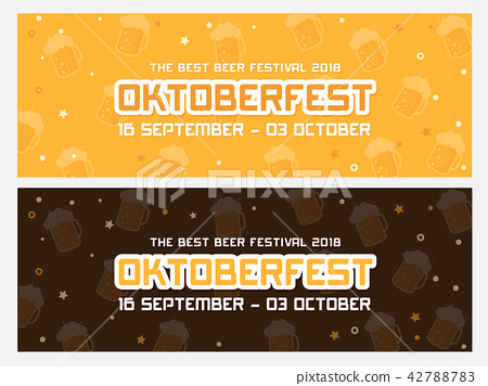 Oktoberfest banner vector illustration 42788783