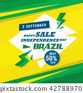 Brazil Independence day banner vector illustration 42788970