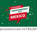 Mexico Independence Day banner vector illustration 42789269