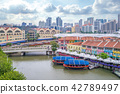 aerial view of Clarke Quay in singapore 42789497