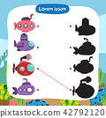 submarine matching game vector design 42792120
