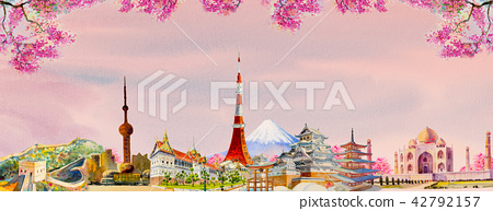 Famous landmarks of the world 42792157