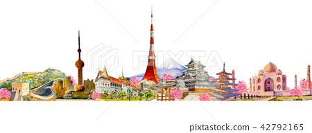 Famous landmarks of the world 42792165