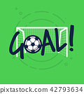 Goal sign for football or soccer game. 42793634