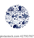 Cartoon sea animals 42793767