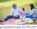 family, picnic, park 42795287