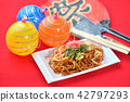 fried soba, temple festival, festival 42797293