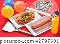 fried soba, temple festival, festival 42797301