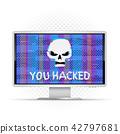 skull, hack, text 42797681
