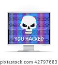 skull, hack, text 42797683