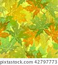 Seamless Pattern, Maple Leaves 42797773