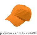New Orange Baseball Cap isolated  42798499
