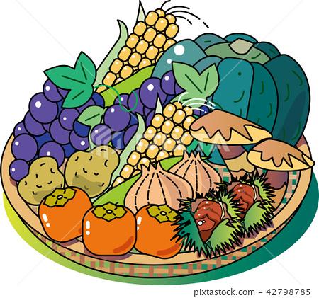 秋天的味道蔬菜和水果 42798785