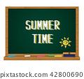 夏季 黑板 粉筆板 42800690