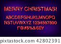 christmas, alphabet, letter 42802391