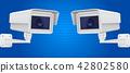 camera, cctv, vector 42802580