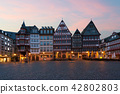 Frankfurt Old town square romerberg in Germany 42802803