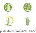 Bamboo Logo Template vector icon 42803822
