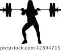 weight lifting girl 42804715