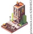 Vector isometric retro restaurant 42804852