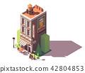 Vector isometric retro restaurant 42804853