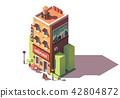 Vector isometric creperie restaurant 42804872