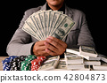 Gambling Concepts. Business people are gambling in the casino. B 42804873