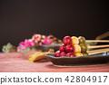赏花丸子 三色饺子 和果子 42804917