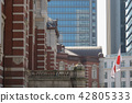 tokyo station, station building, blank expression 42805333